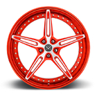 "Customized Red 2 PC Forged Alloy Rims For Ferrari / Rim 22"" Alloy Car Rims"