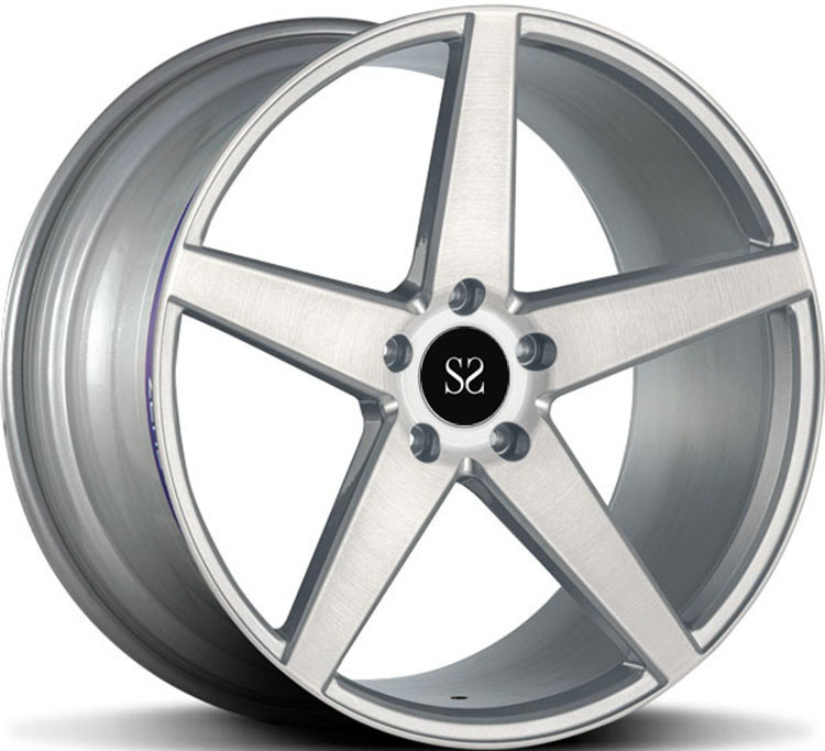 1- Piece Forged Wheel Custom Gloss Black 1-PC 21 Inch Alloy Rims For Mercedes E350 5x112