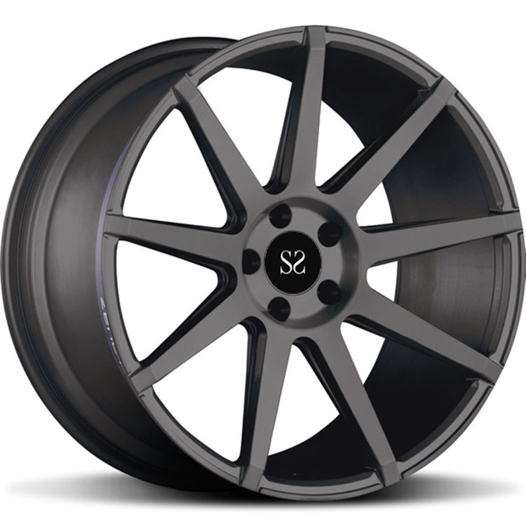 Custom Brush 20 Inch 1 - PC Forged Alloy Rims For Porsche Cayenne With 5x130