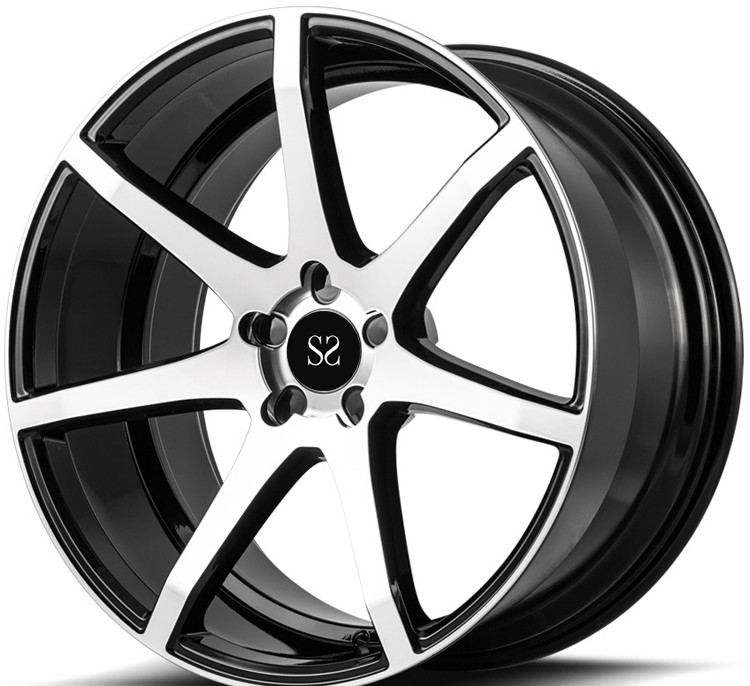 Custom Gloss Black Machined 20 Inch 1-Piece Forged Rims For Audi RS7 Car Rims