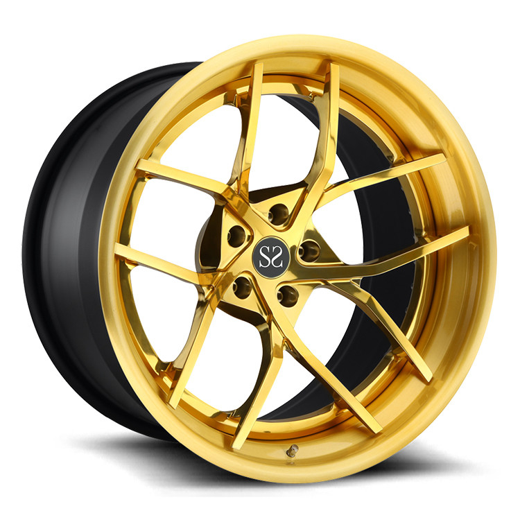 "Polish 19"" Forged Rims For Ford Mustang / Yellow Alloy Rims 19"" Alloy Rims"